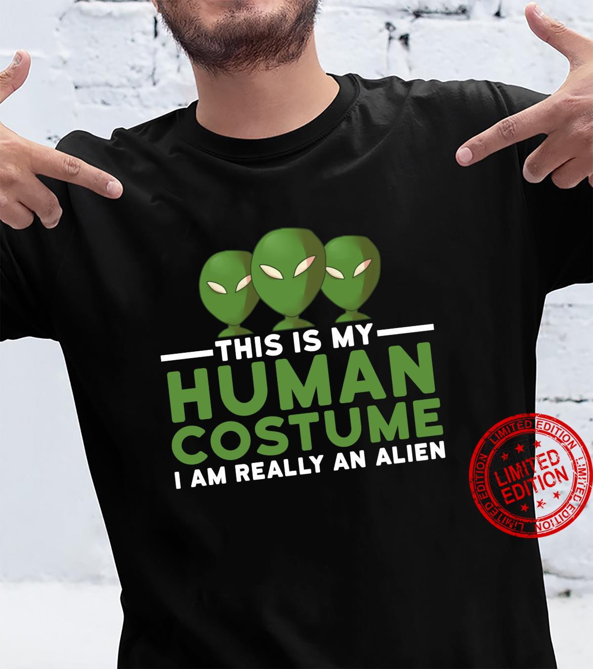 This Is My Human Costume I'm Really An Alien Halloween UFO Shirt