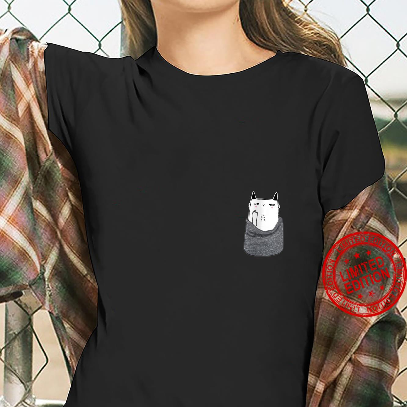Womens Kitty Cat in my your Pocket Gift Funny Halloween Shirt ladies tee
