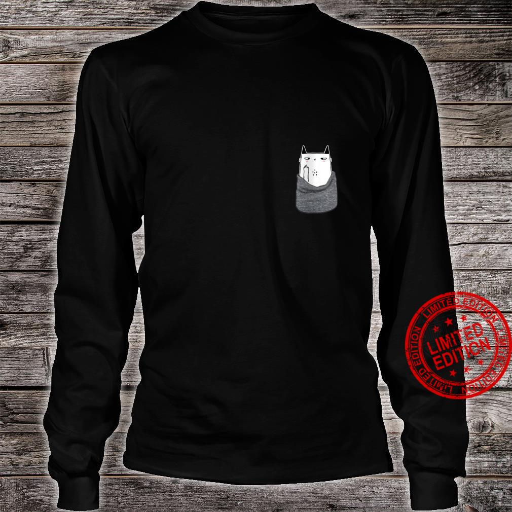 Womens Kitty Cat in my your Pocket Gift Funny Halloween Shirt long sleeved