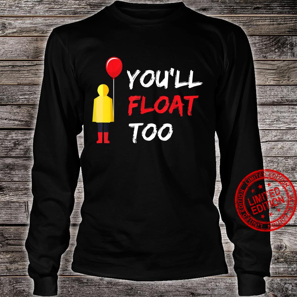 You'll Float Too Red Balloon Halloween Shirt long sleeved