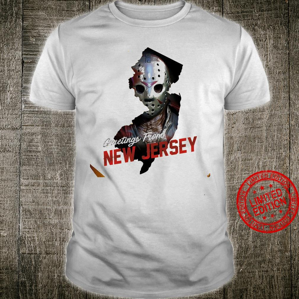 Greetings From New Jersey Shirt unisex