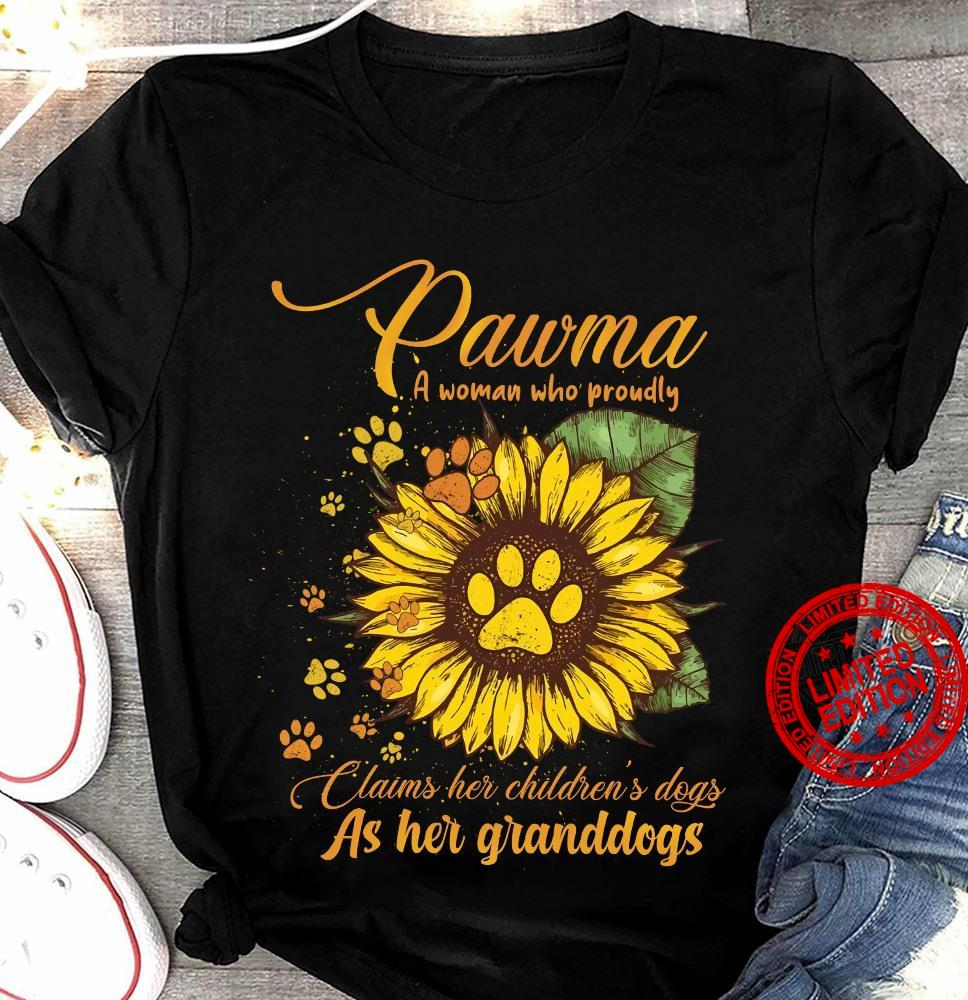 Pawma A Woman Who Proudly Claims Her Children's Dogs As her Granddogs Shirt